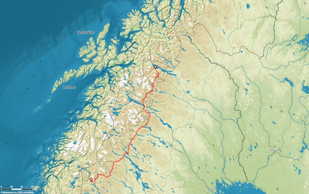 Übersichtskarte der Wanderung